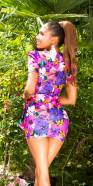Mini robe sexy imprimé floral