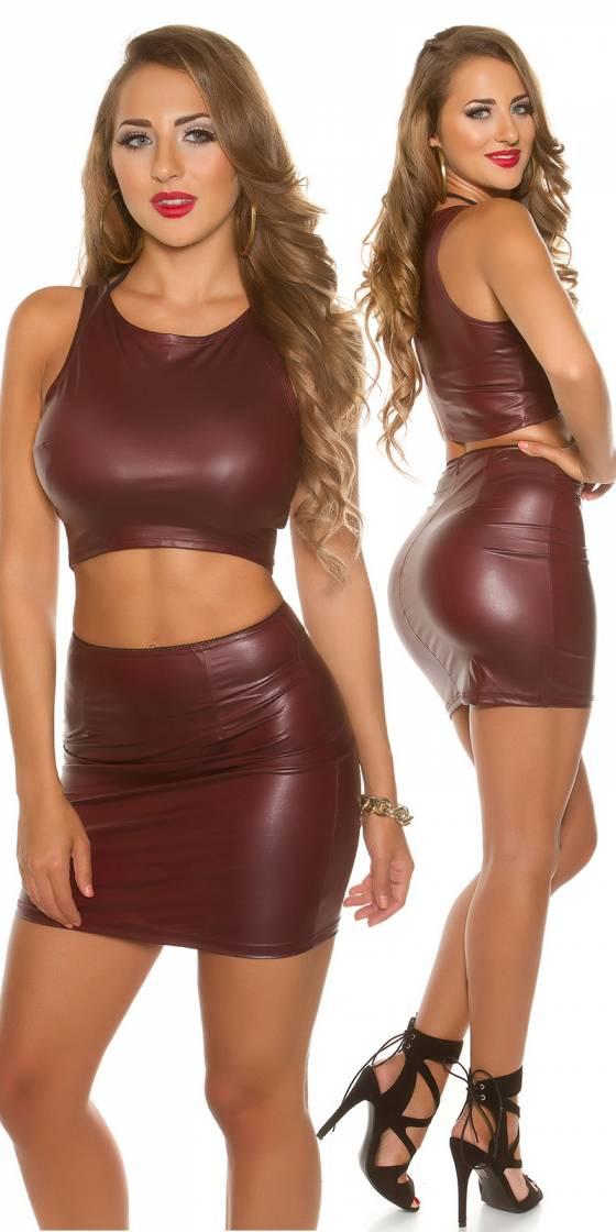 Mini jupe sexy effet mouillé