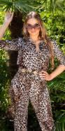 Salopette sexy imprimé léopard