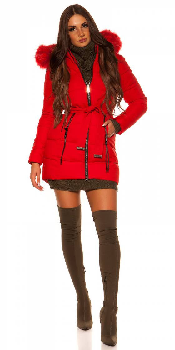 Robe pull fashion sexy AGNES couleur rouge