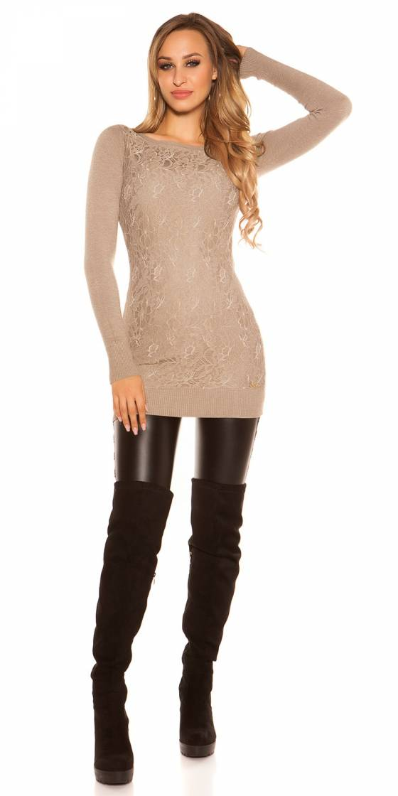 Robe femme ultra sexy BENITA couleur marron