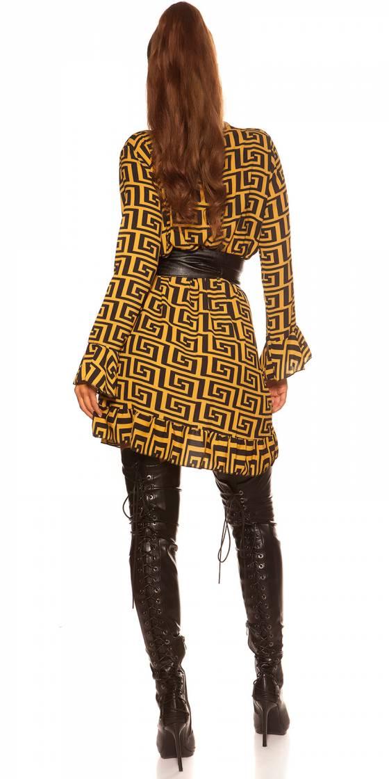 Robe fashion glamour AMBRE couleur noir