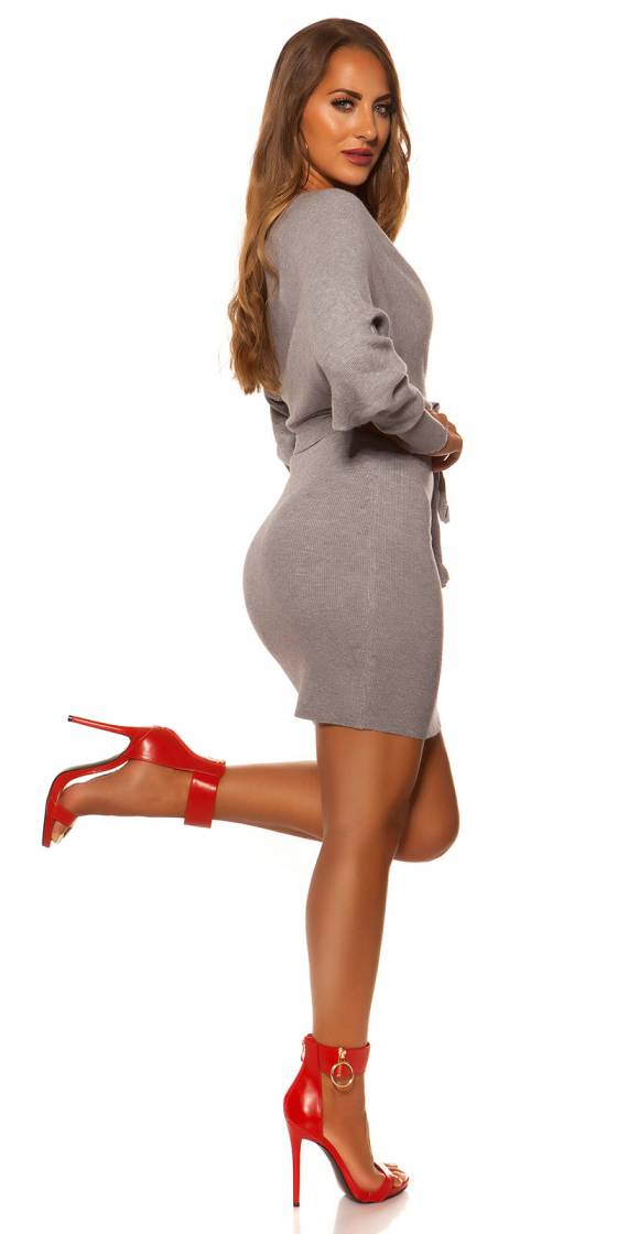 Robe fashion glamour AMBRE couleur rouge