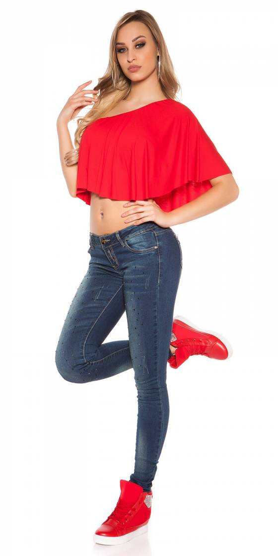 Jeans sexy tendance ANAELLE couleur menthe