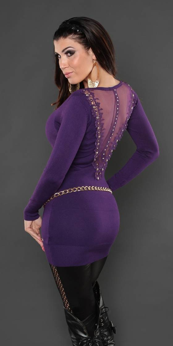 Robe femme fashion LUCIANA couleur violet