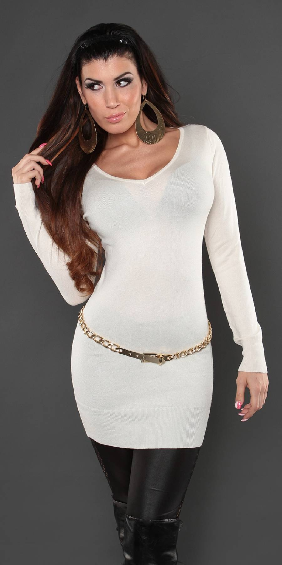 Robe femme ultra sexy CHENA couleur blanc