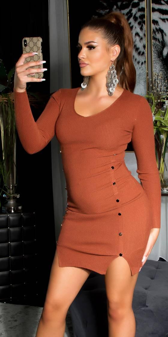 Sexy V-neck knitted dress...
