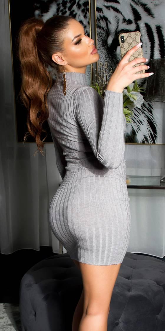 Robe courte sexy en maille