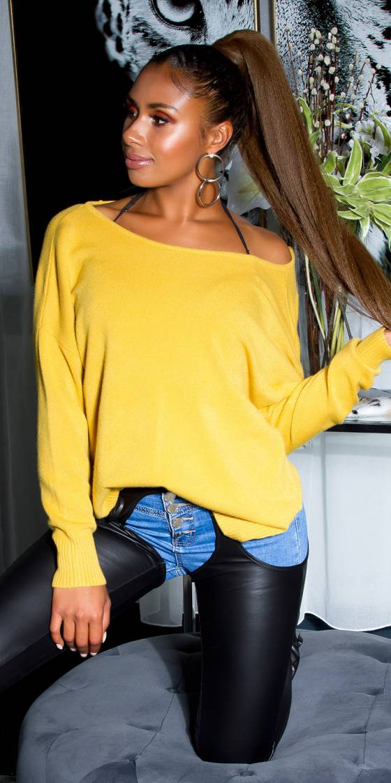 Sexy oversize sweater with...