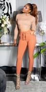 Pantalon sportif tendance avec ceinture