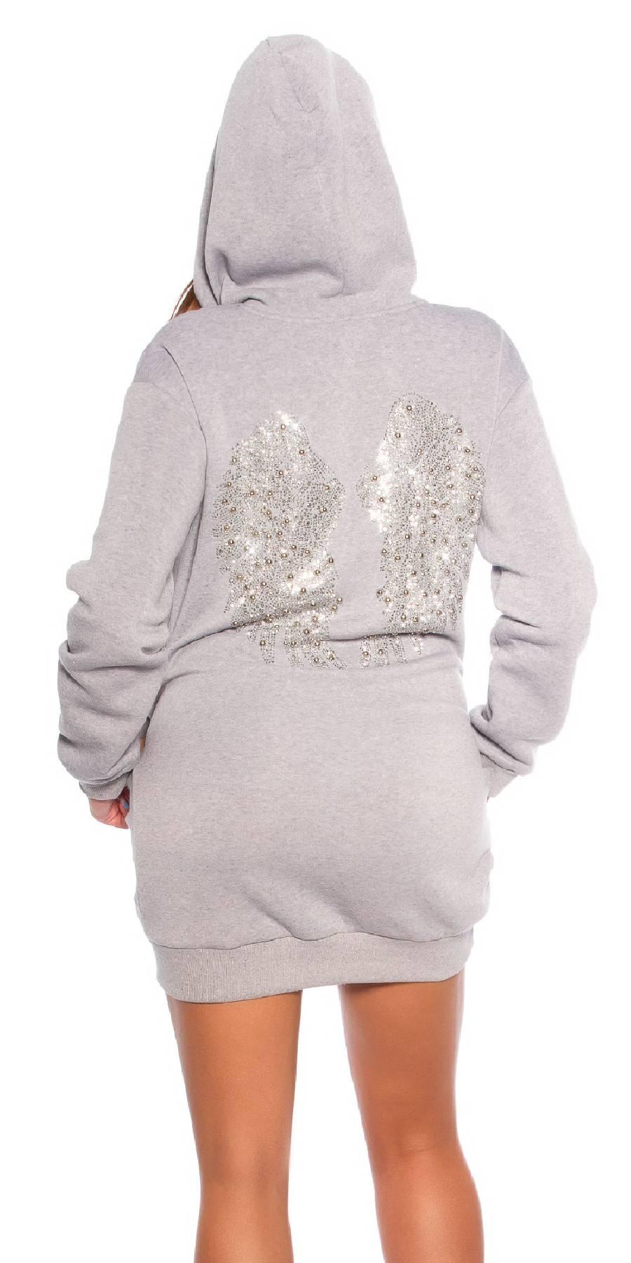 Veste sexy sportswear ANTONIA couleur gris