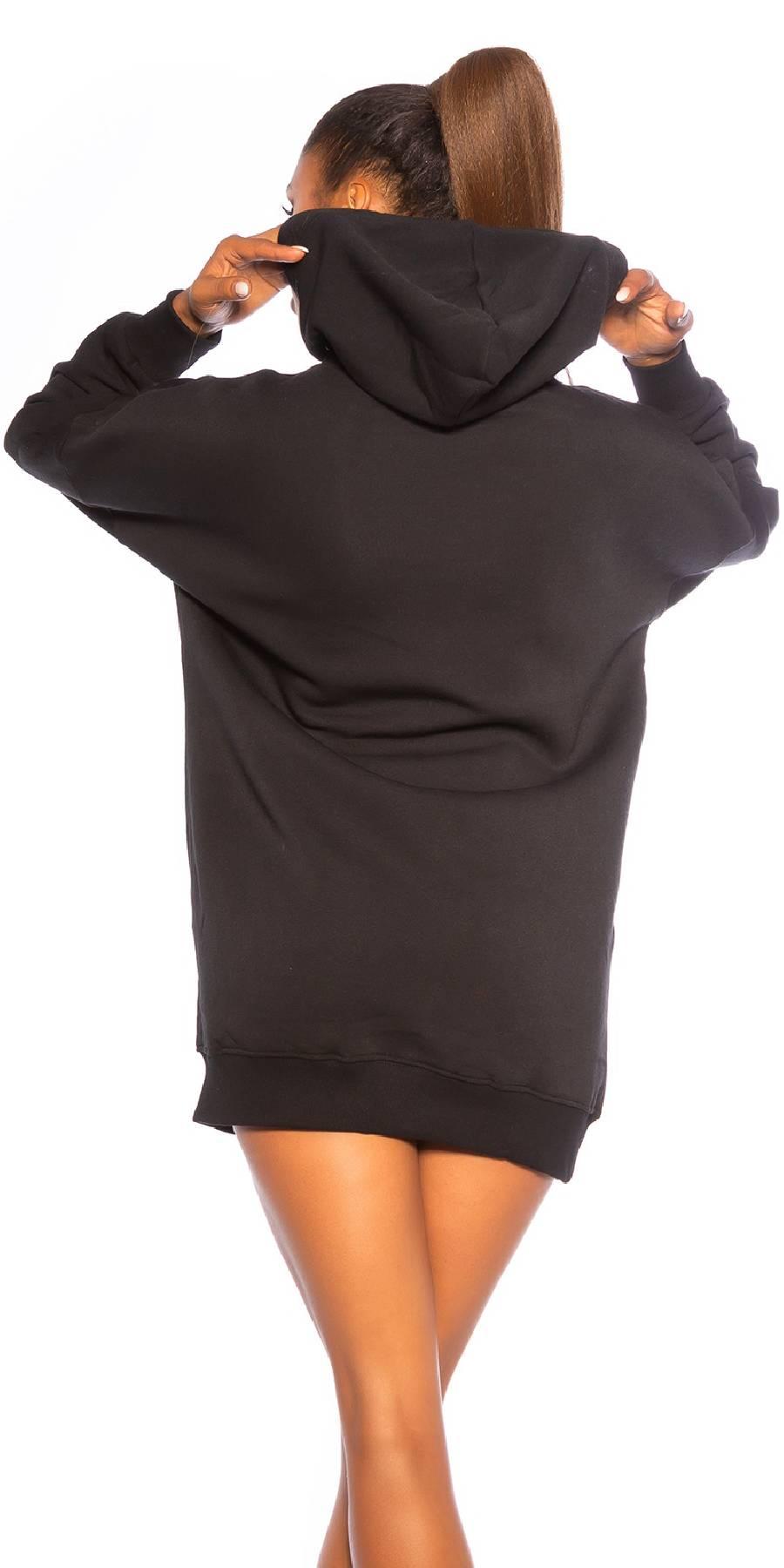 Sweat sexy sportswear APRIL couleur noir