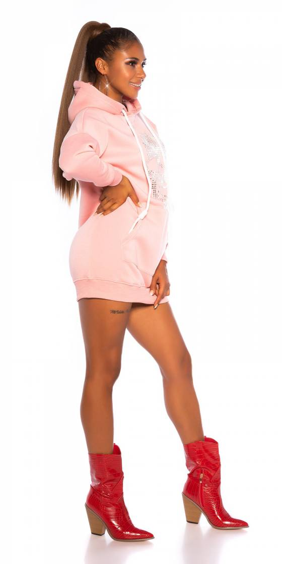 Sweat sexy sportswear APRIL couleur rose