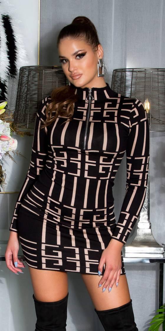 Sexy High Neck Knit Dress