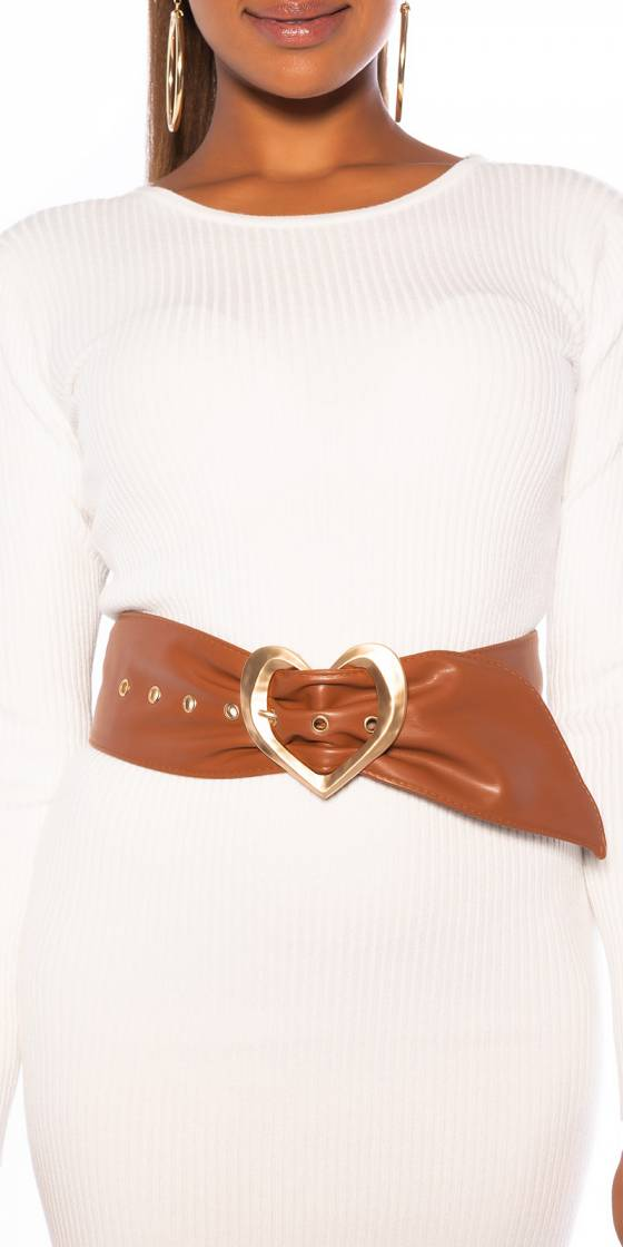 Sexy Belt with Heart Buckle