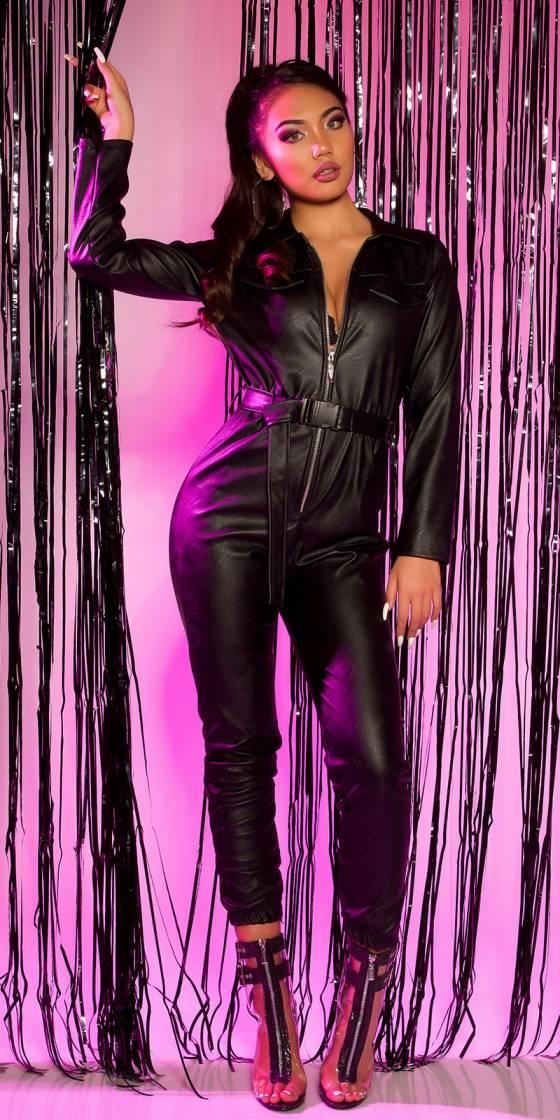 Sexy Leatherlook jumpsuit...