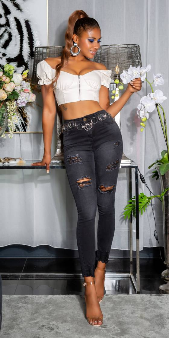Jeans sexy skinny taille...