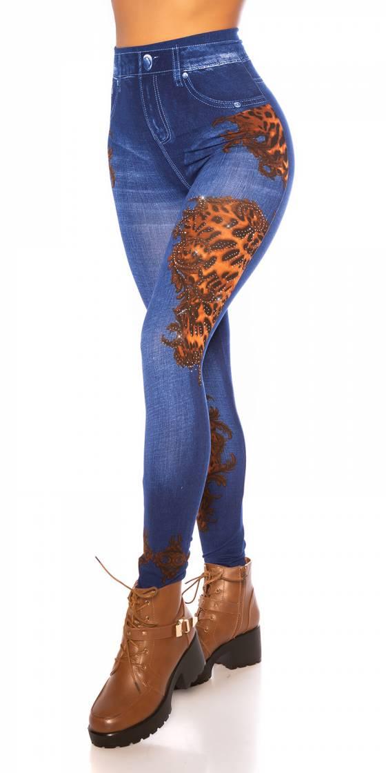 Leggings en jean sexy imprimé