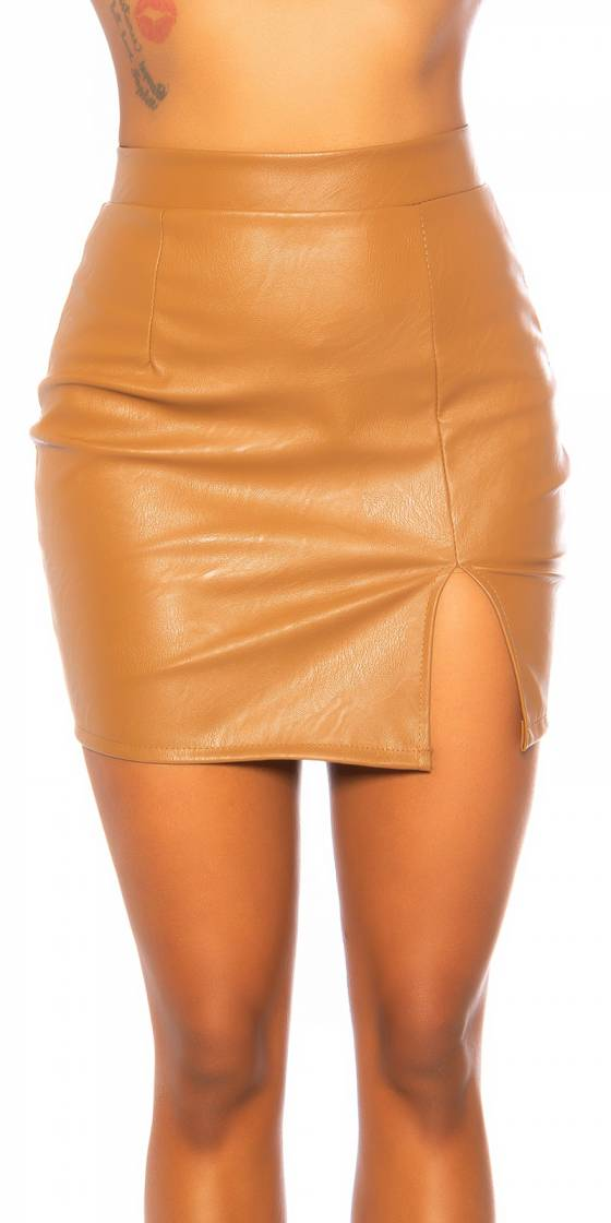 Sexy Leder Look Skirt with...