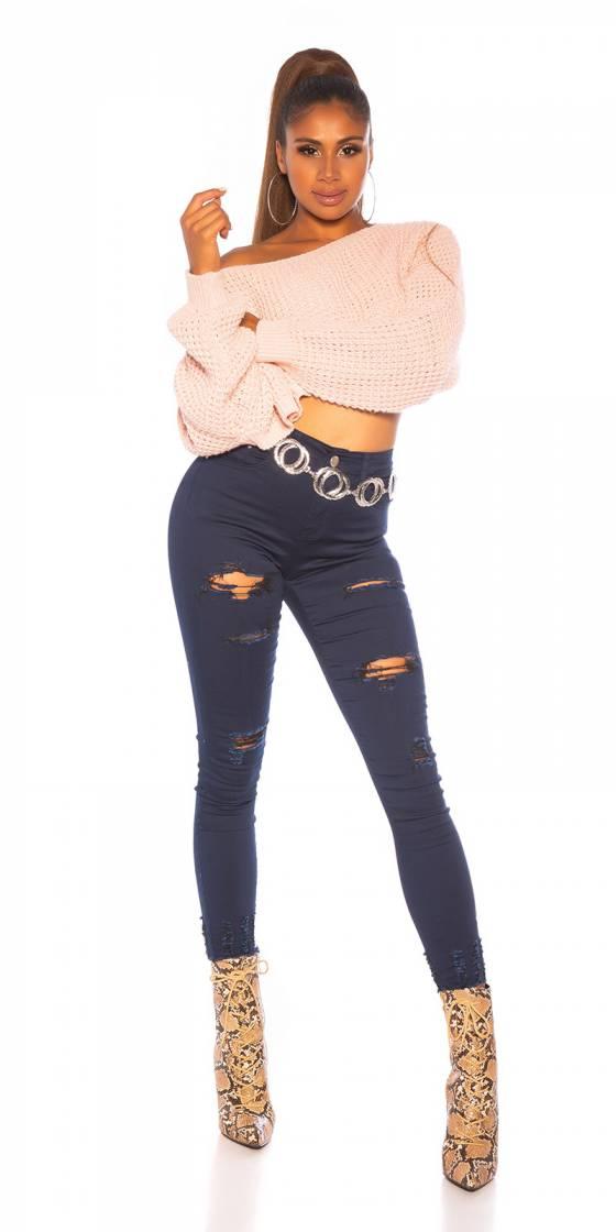 Jeans skinny déchiré sexy