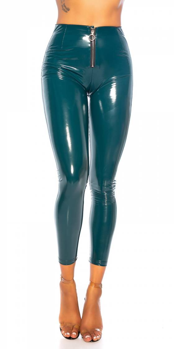 Sexy latex Look Skinny Pants