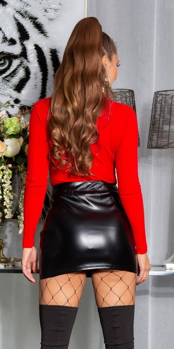 Top sexy glamour MAELWENN couleur rouge