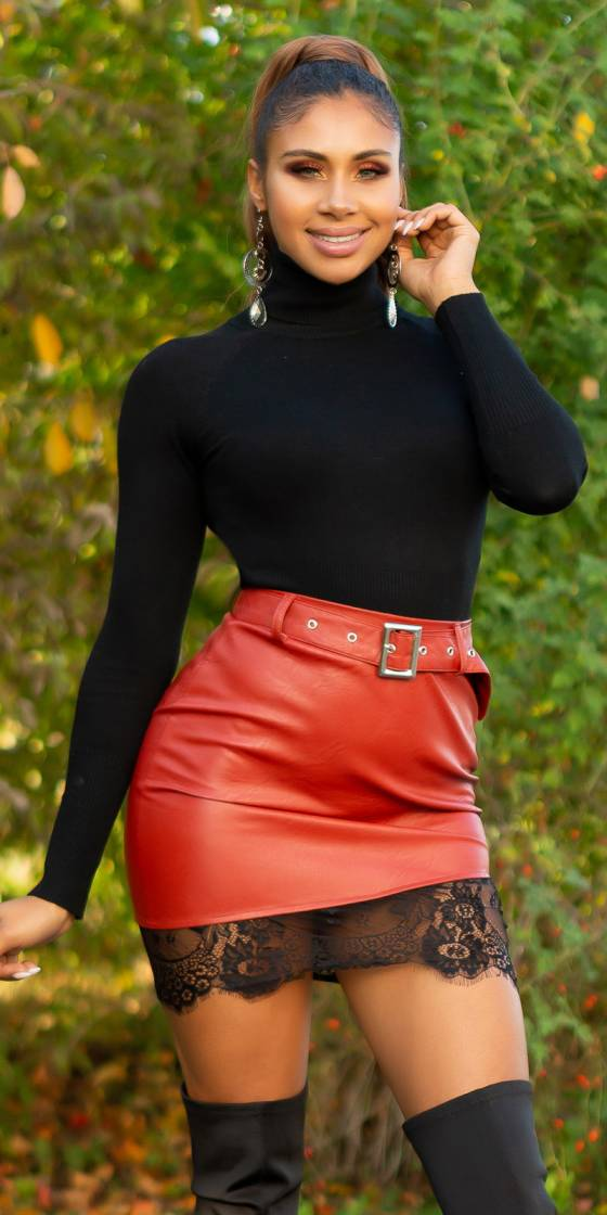 Sexy Leather Look Skirt...