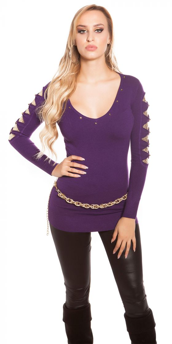 Sexy KouCla longsweater with sequin-applications