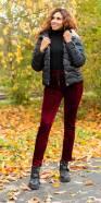 Pantalon thermo en velours tendance