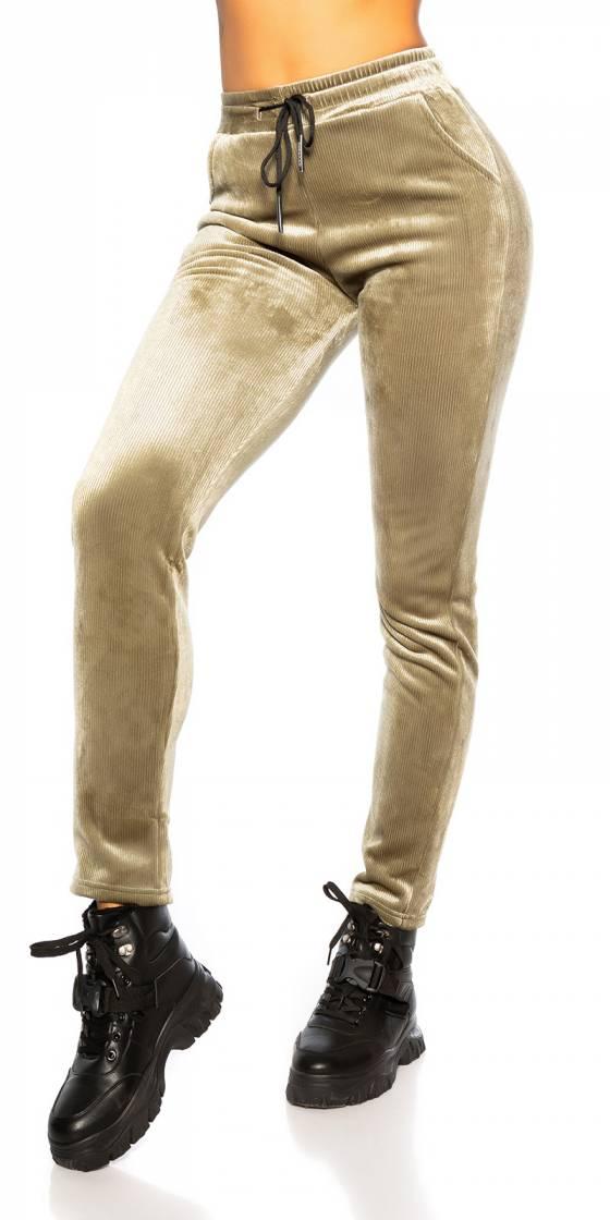 Pantalon thermo en velours...