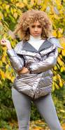 Sexy Shiny Winter Jacket with Hood