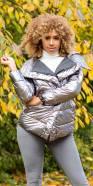 Veste fashion brillante sexy avec capuche