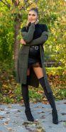 Trendy Koucla Long knit jacket with pockets