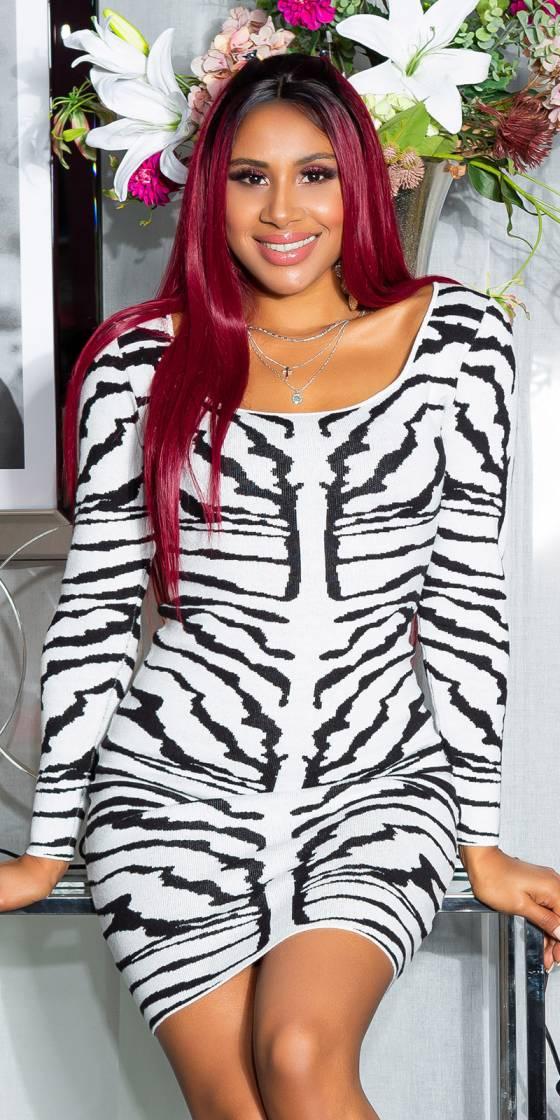 Sexy Tiger Knit Dress