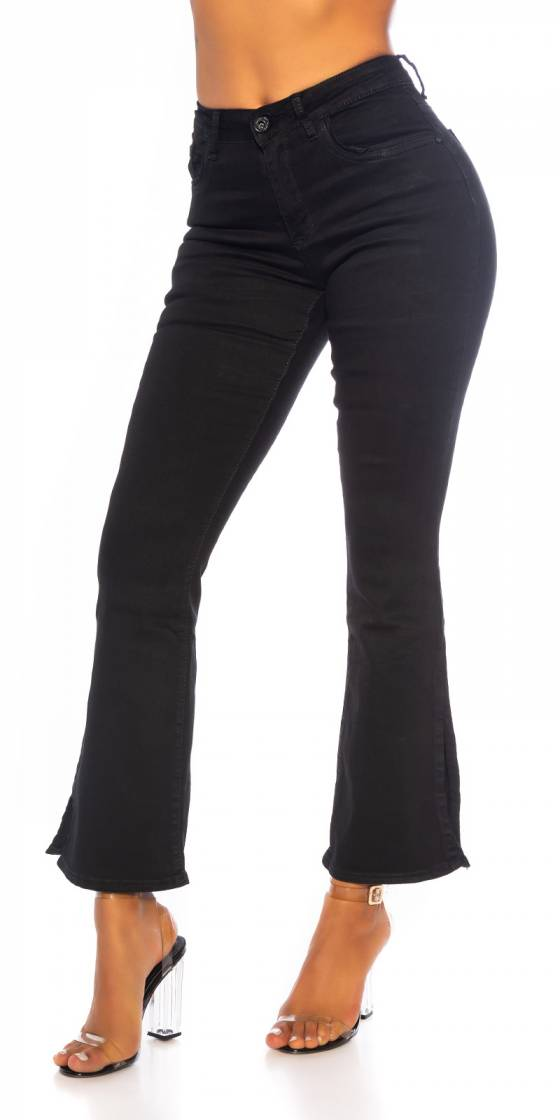Sexy Bootcut Jeans with Slit