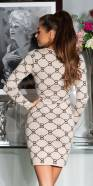 Sexy Fine Knit Dress With trendy Pattern