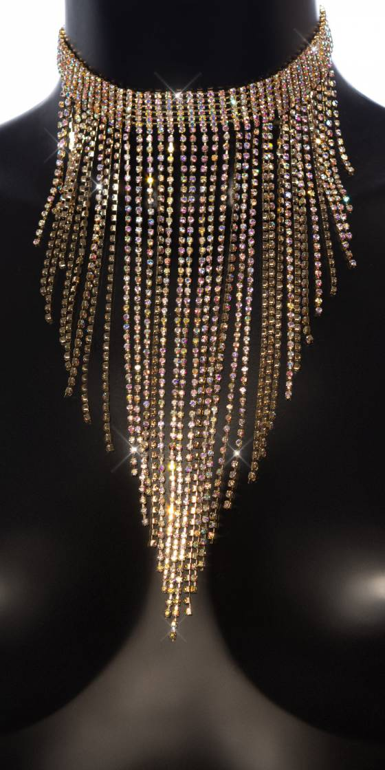 Grand collier sexy avec strass