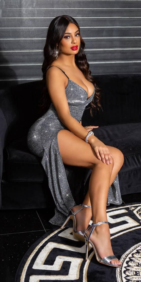 Sexy V-Neck Sparkling Dress...