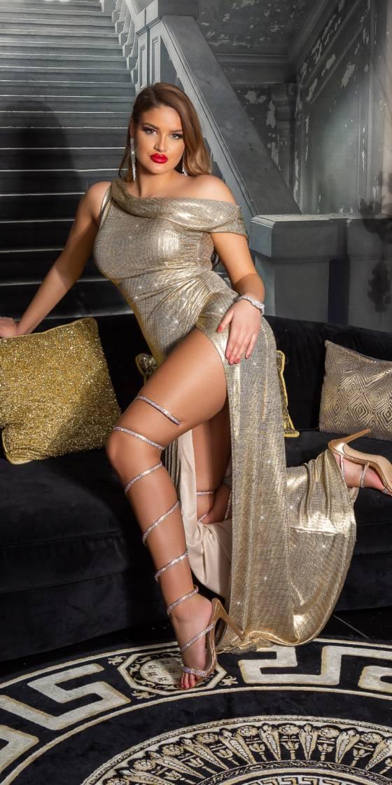 Robe déesse fashion à une...