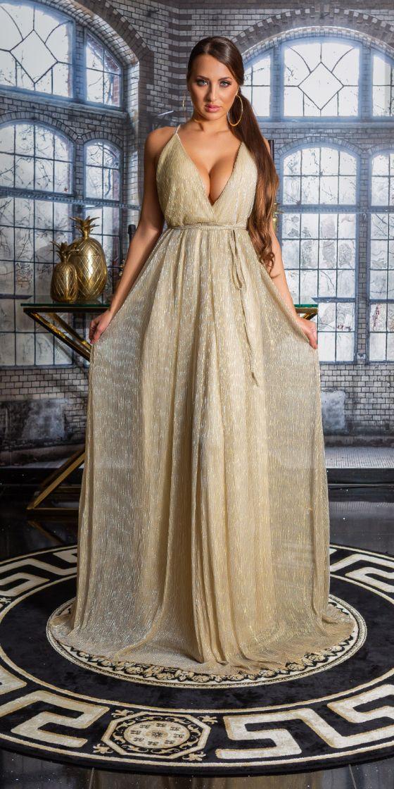 RedCarpetLook! Sexy KouCla Neckholder long dress