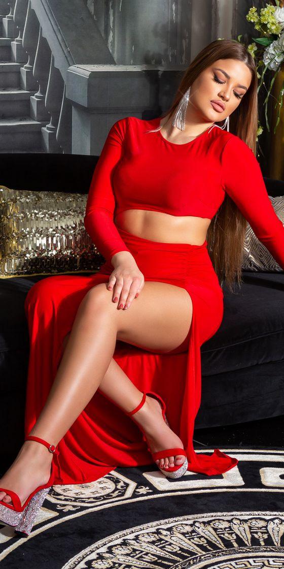 Sexy Koucla Party Dress with XXL Leg Slit