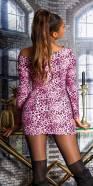 Sexy KouCla knitted minidress with animalprint