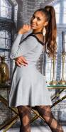 Sexy KouCla Strickkleid with Mesh & Corset Detail