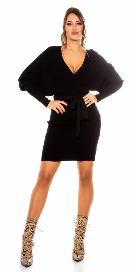 Short SEXY FASHION avec ceinture couleur noir