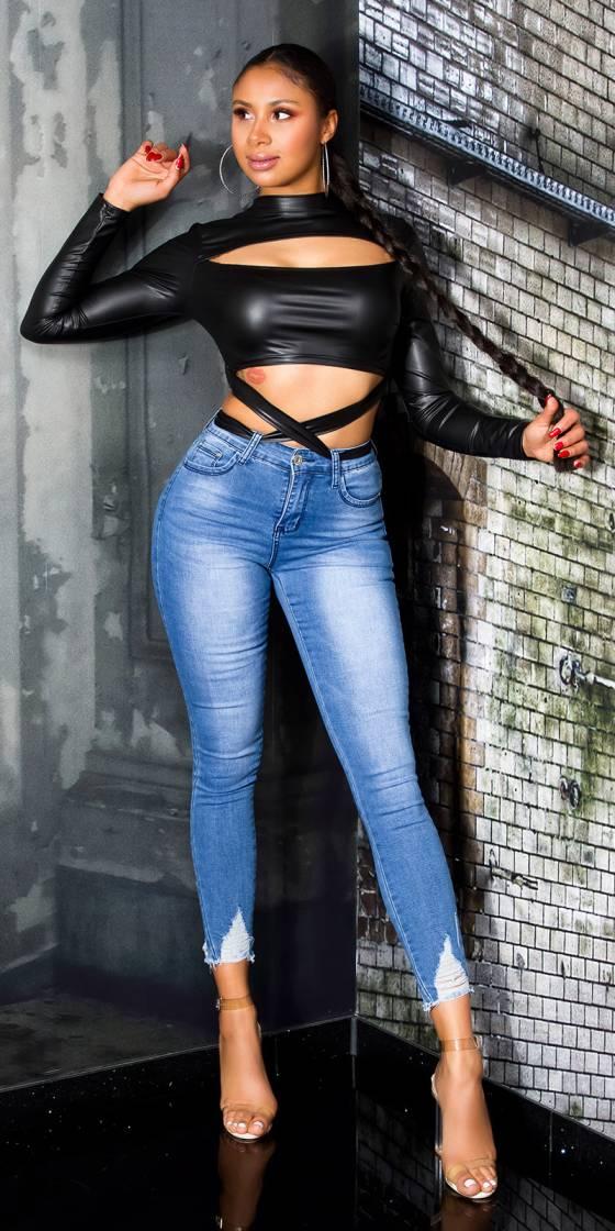 Jeans skinny fashion avec...