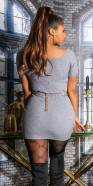 Sexy KouCla Rip knitted dress with lacing