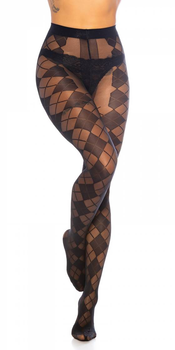 Trendy Tights with Diamond...