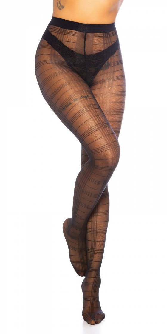 Trendy Checkered Tights