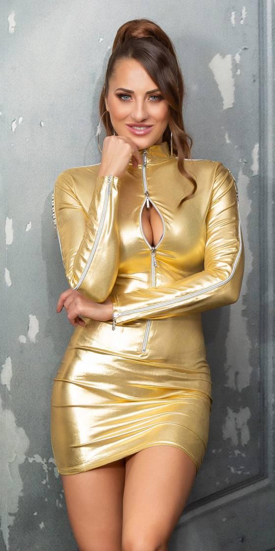 Sexy WetLook  Minidress,...