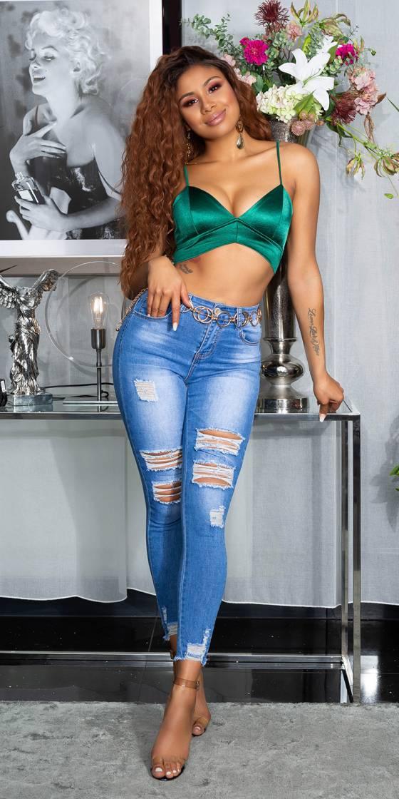 Jeans fashion skinny usé